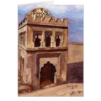 Carte Couleur pour aquarelle de mosquée