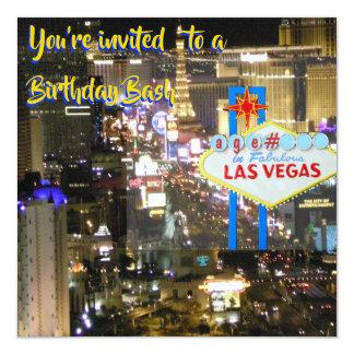 Carte Coup d'anniversaire de Las Vegas tout âge sur le