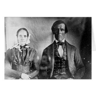 Carte Couples posés 1840 d'homme et de femme