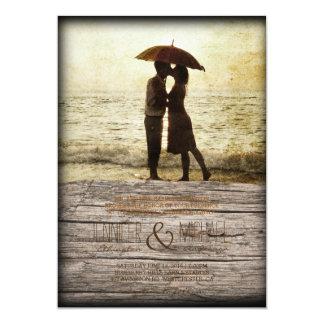 Carte couples sur la plage/faire-part de mariage