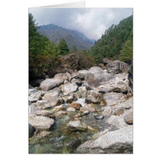 Carte Courant rocheux dans le paysage de forêt de