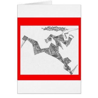 Carte coureur triangulaire