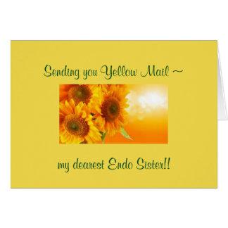 Carte Courrier jaune