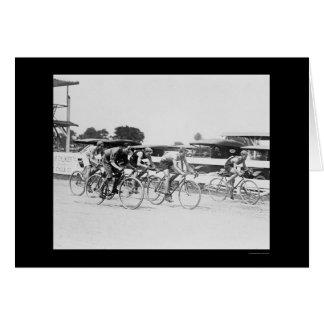 Carte Course de bicyclette à Washington, dc 1925