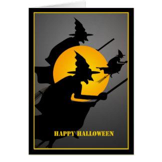 Carte Coutume de sorcière de Halloween