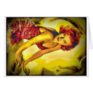 "Carte Couverture"" Lana Turner ""de pulpe"