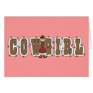 Carte Cow-girl de bonne chance - occidentale