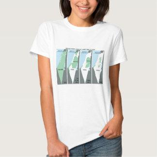 Carte craintive de la Palestine T-shirts