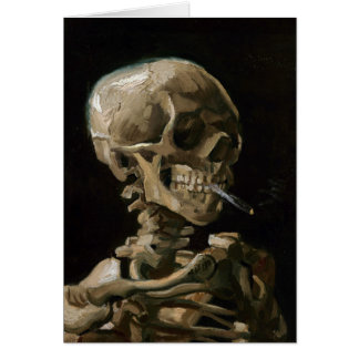 Carte Crâne avec l'art brûlant de Vincent van Gogh de