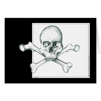 Carte Crâne et os croisés de cuisse