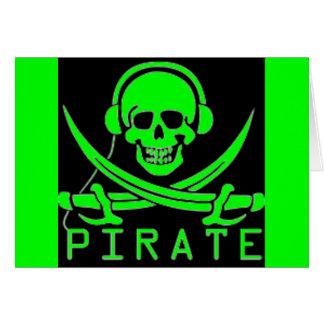 Carte crâne et pirate d'épées