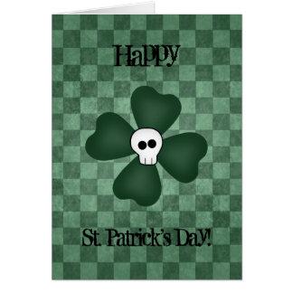 Carte Crâne et shamrock de Jour de la Saint Patrick