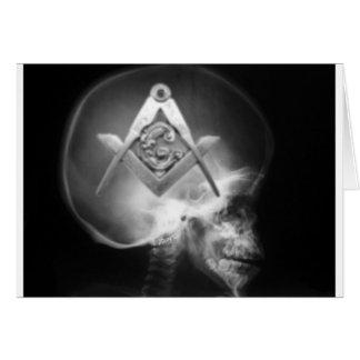 Carte Crâne maçonnique d'alien de rayon X