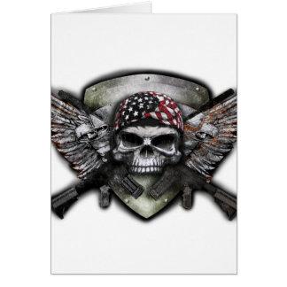 Carte Crâne militaire avec la guerre croisée de Special