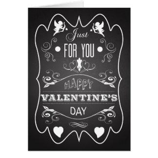 Carte créative de heureuse Sainte-Valentin de