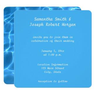 Carte Créez votre propre mariage de photo de piscine