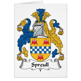 Carte Crête de famille de Spreull