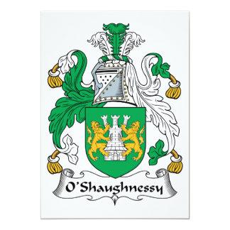 Carte Crête de famille d'O'Shaughnessy