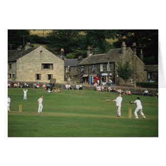 Carte Cricket de village, bas Bradford, South Yorkshire,