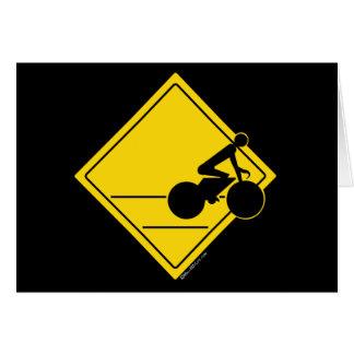 Carte Croisement de cycliste
