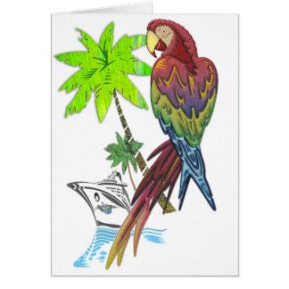 Carte Croisière tropicale de perroquet