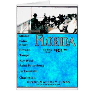 Carte Croisière vintage de la Floride