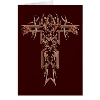 Carte Croix fleurie chrétienne 4