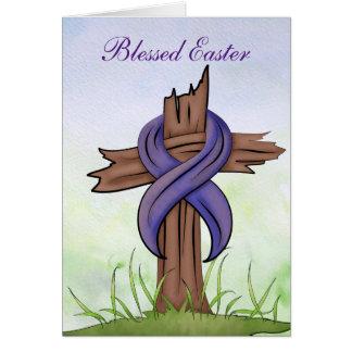 Carte Croix religieuse