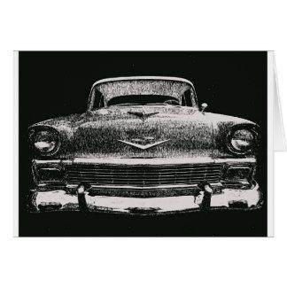 CARTE CROQUIS DE 1956 CHEVY