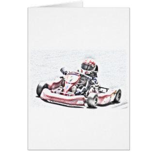 Carte Croquis ombragé par coureur de kart