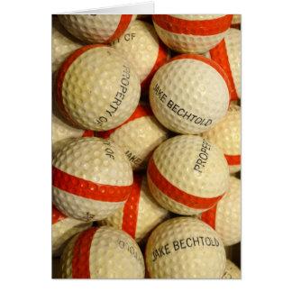 Carte Cru - boules de golf de gamme