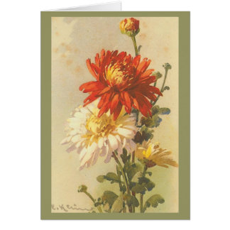 Carte Cru - chrysanthème