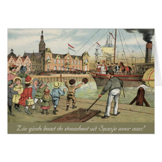 Carte Cru de bateau à vapeur de Sinterklaas de