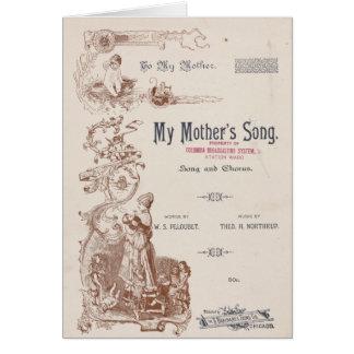 "Carte - cru de ""la chanson ma mère """