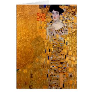 "Carte Cru de portrait de Gustav Klimt ""Adele"""