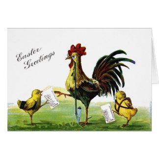 Carte Cru de tabagisme Pâques de narguilé de coq