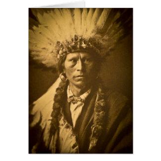 Carte Cru en chef d'Indien d'Apache Garfield