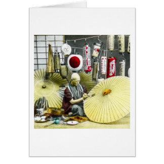 Carte Cru japonais de no. 2 de fabricant de parapluie