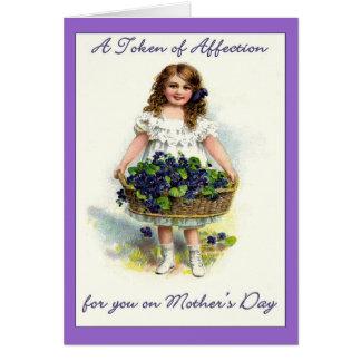 Carte Cru pour vous le jour de mère, marque d'affection