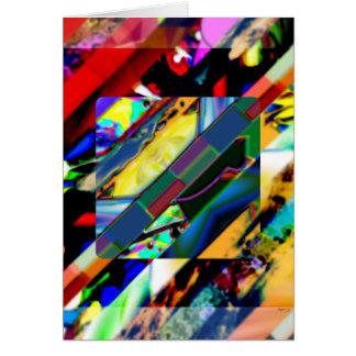 Carte Cube coloré en collage