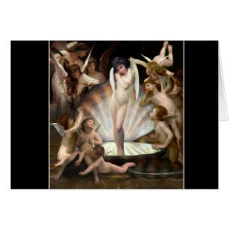 Carte Cupidon de bordure des anges de Bouguereau
