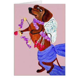 Carte Cupidon de teckel