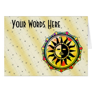 Carte Customisez ce motif multicolore de Sun
