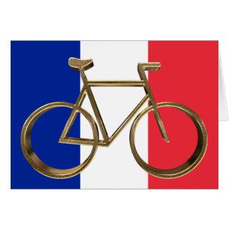 Carte Cycliste de recyclage de drapeau de bicyclette