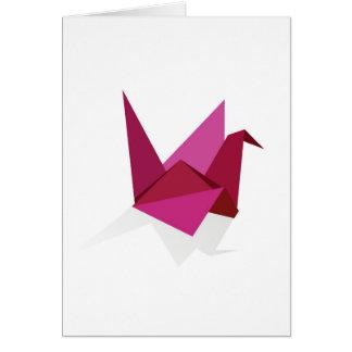 Carte cygne d'origami