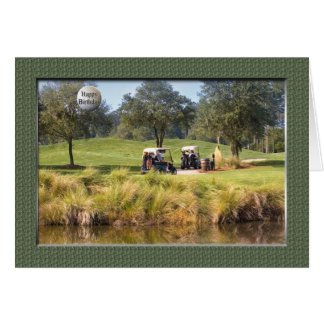 Carte d anniversaire pour le golfeur