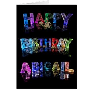 Carte d'Abigaïl de joyeux anniversaire
