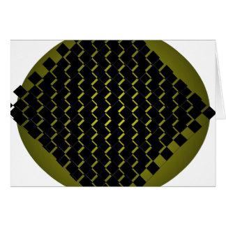 Carte d'abrégé sur noir de vert d'armée de fusion