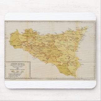 Carte d'activité de Mafia en Sicile Italie 1900 Tapis De Souris