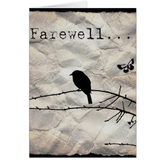 Carte d'adieu